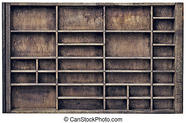 vintage typesette orr printer drawer - vintage wood printer...