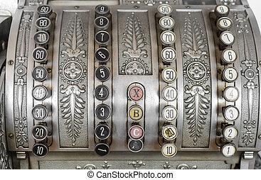 Vintage typewriter close-up.