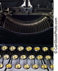 Vintage typewriter close up