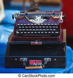Vintage typewriter close up