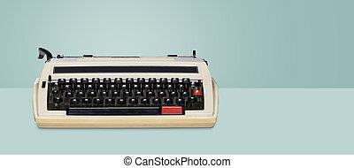 Vintage typewriter. Retro machine technology