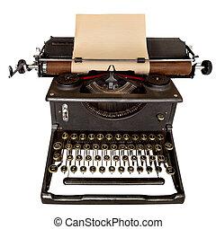 Vintage Typewriter - Vintage manual typewriter, with sheet...