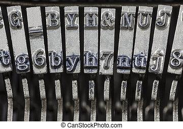 Vintage Typewriter Typebars Extreme Macro - Vintage...
