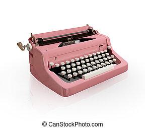 vintage typing machine - Vintage typing machine isolated on...