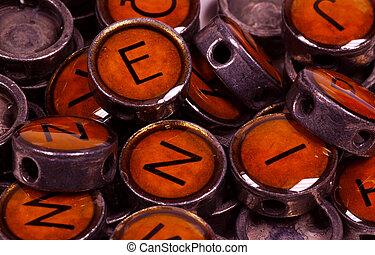 Vintage Typrewriter Keys