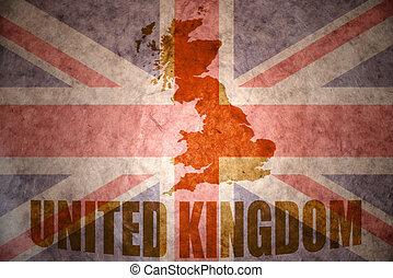 vintage united kingdom map - united kingdom map on a vintage...