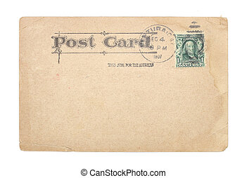 Vintage United States 1907 Postcard - A blank, vintage...