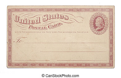Vintage United States Once Cent Postcard - The front of a...