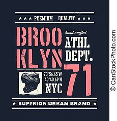 vintage urban typography with tyrannosaurus head