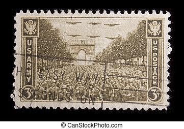 Vintage US commemorative postage stamp