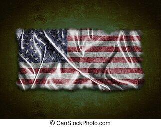 Vintage USA flag.