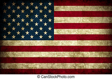 vintage usa flag - old vintage usa America national flag...