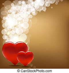 Vintage Valentine Background With Heart