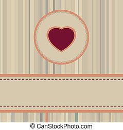 Vintage valentine Card or package design. EPS 8