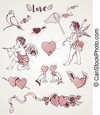 Vintage Valentine elements
