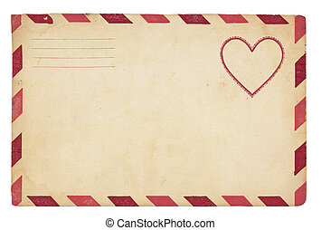 Vintage Valentine Envelope - The front of an vintage...