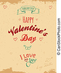 Vintage Valentine greeting card