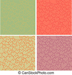 Vintage Valentine patterns set