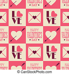 Vintage Valentine Seamless Pattern