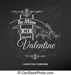 Vintage Valentine's Day Card - for scrapbook and design in vector