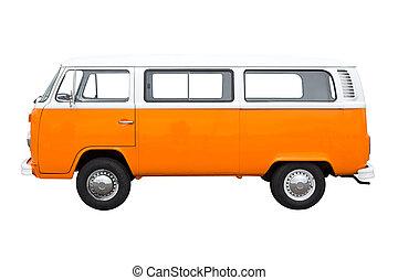 Vintage Van - Classic vintage van isolated on white