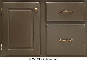 Vintage Vanity - Old painted vanity with hinges, drawers and...