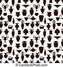 vintage vases seamless pattern