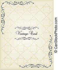 Vintage vector background elements for book cover or card