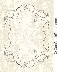 Vintage vector background in grunge style with decorative frame.