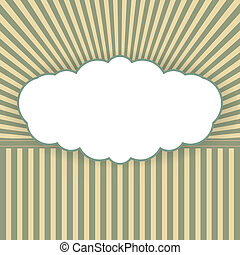 Vintage vector background with form of a cloud
