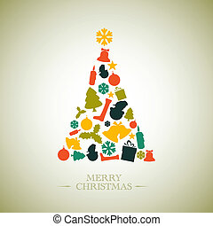 Vintage Vector christmas tree