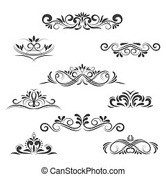 Vintage Vector Decorative Elements