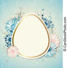 Vintage vector Easter card