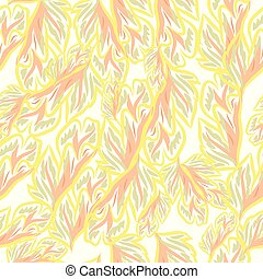 Vintage vector fashion pattern with foliage.eps