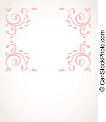 Vintage vector frame on  beautiful background