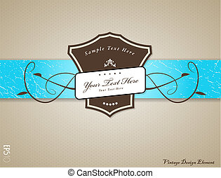 Vintage vector illustration with place for your text.
