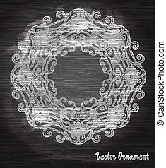Vintage vector pattern.Chalk board. Hand drawn abstract background. Decorative retro banner.