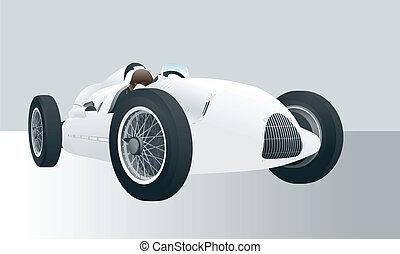Vintage vector racing car