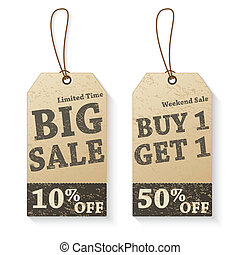 Vintage vector sale tags