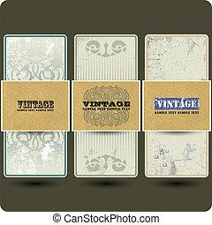 Vintage vector set labels