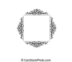 Vintage vector swirl frame