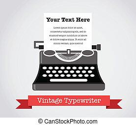 Vintage Vector Typewriter Illustration