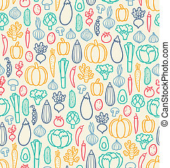 Vintage vegetables seamless pattern