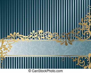 Vintage Victorian banner, horizontal