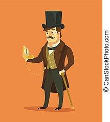 Vintage victorian gentleman