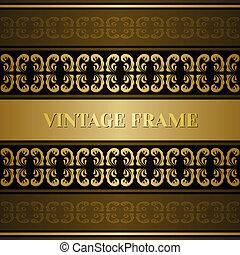Vintage victorian golden card