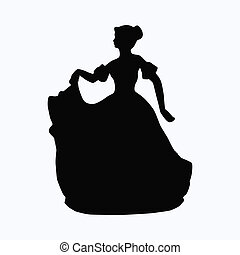 Vintage victorian lady silhouette