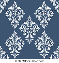 Vintage victorian seamless pattern. Can be used for banner, invitation, wedding card, scrapbooking and others. Royal vector design element.