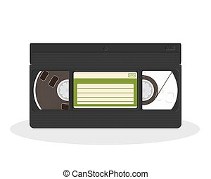 Vintage video cassette isolated on a white background. Retro...