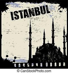 Vintage view of Istanbul